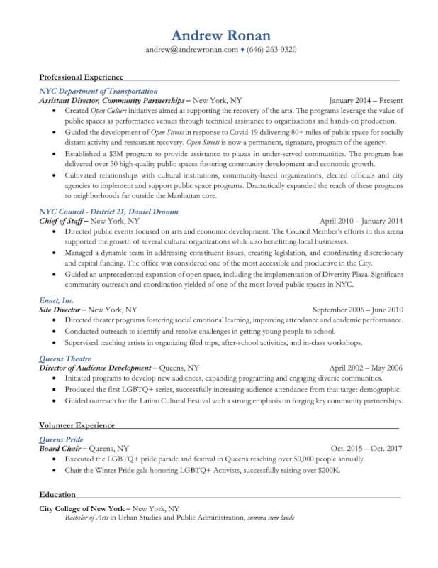 Resume - New York, NY